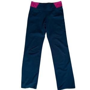Ellen Tracy Active pull on  pants black, pink